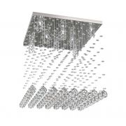 Lustre de Cristal Legitimo 42cm Sala de estar Mesa Jantar Quarto Living C/ Lâmpadas Led