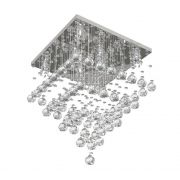 Lustre de Cristal Legitimo 42X42cm Sala Quarto Living Hall de Entrada C/ Lâmpada Led