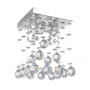 Lustre de Cristal Legitimo Piramide 15cm Corredor Lavabo Hall Entrada Sacada L302