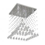 Lustre de Cristal Legitimo Piramide 42cm Sala de estar Mesa Jantar Quarto Living L302
