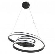 Pendente De Led Infinity 57cm Para Mesa Sala De Jantar Quarto Living Área Gourmet