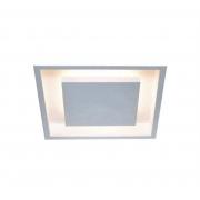 Plafon Rebatedor Embutir Quadrado 40cm Branco Luz Indireta Quarto Sala de Estar Living