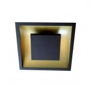 Plafon Rebatedor Embutir Quadrado 45cm Preto Luz Indireta Quarto Sala de Estar
