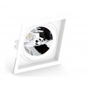 Spot de Embutir AR70 Quadrado Orientável Face Recuada Branco