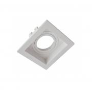 Spot de Embutir Dicroica Quadrado Orientável MR16 Face Recuada Branco