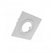 Spot de Embutir Mini Dicroica Quadrado Orientável MR11 Face Plana Branco