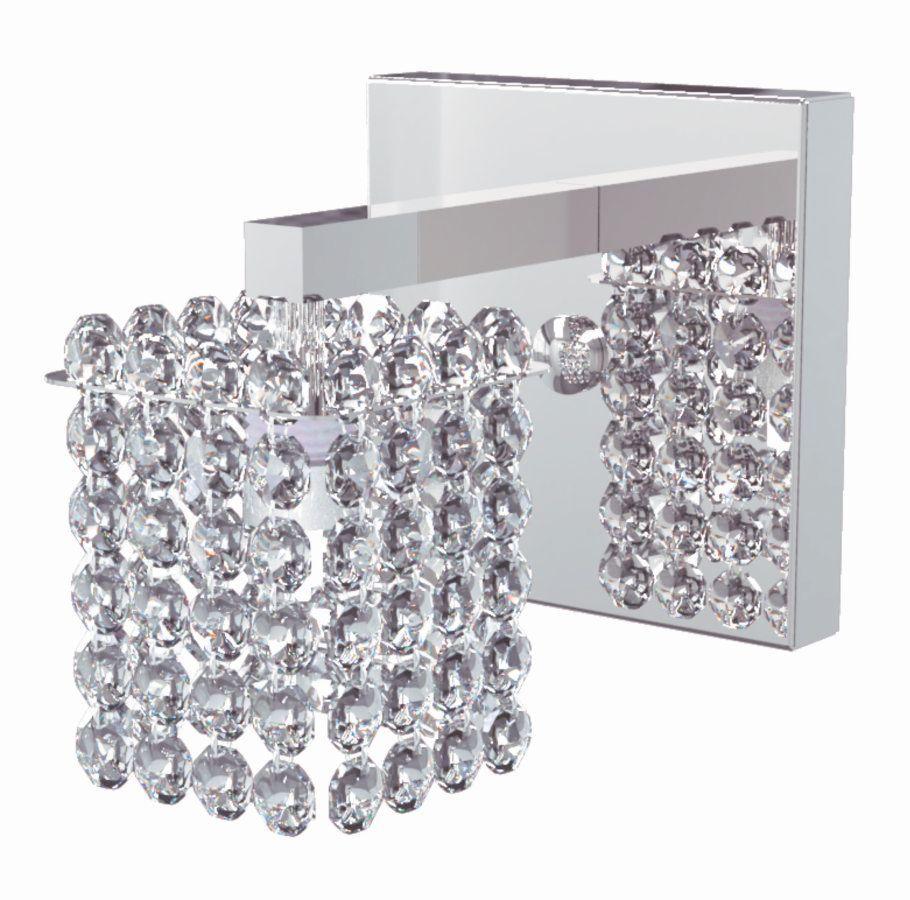 Arandela de Cristal Legitimo Quarto Sala Escada Corredor Lavabo Espelho Painel Cabeceira De Cama AR812
