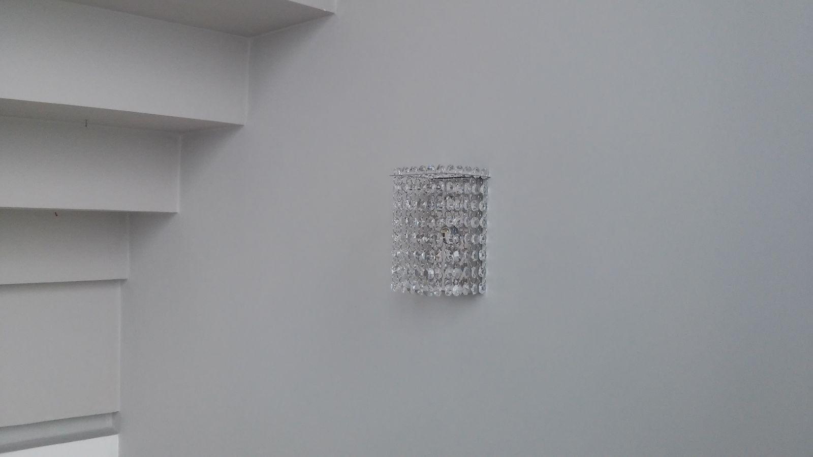 Arandela de Cristal Legitimo Quarto Sala Escada Corredor Lavabo Espelho Painel Cabeceira De Cama Living Hall Entrada AR701M