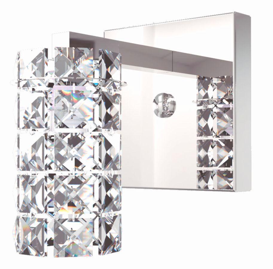 Arandela de Cristal Legitimo Quarto Sala Escada Corredor Lavabo Espelho Painel Cabeceira De Cama Living Hall Entrada AR815