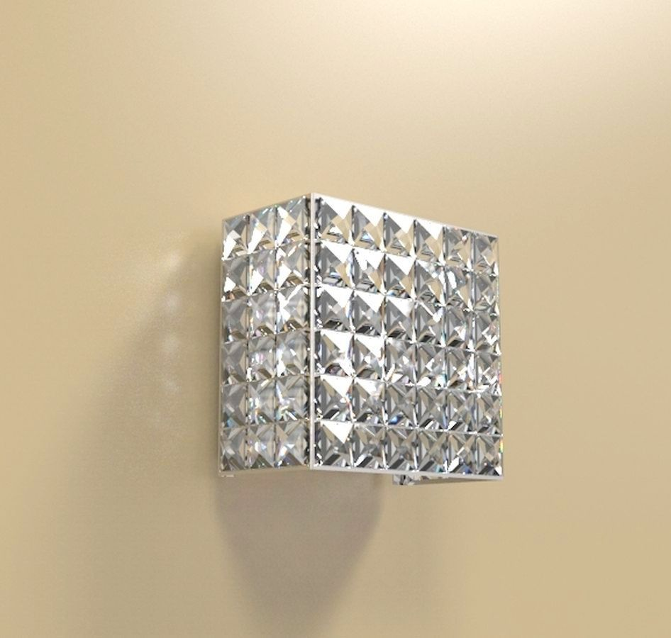 Arandela de Cristal Legitimo Quarto Sala Escada Corredor Lavabo Espelho Painel Cabeceira De Cama Living Hall Entrada AR601M
