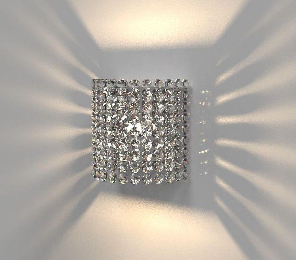 Arandela de Cristal Legitimo Quarto Sala Escada Corredor Lavabo Espelho Painel Cabeceira De Cama Living Hall Entrada AR704P