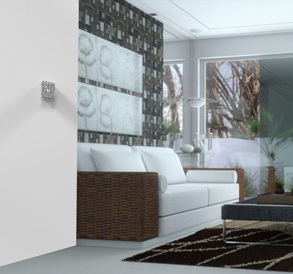 Arandela de Cristal Legitimo Quarto Sala Escada Corredor Lavabo Espelho Painel Cabeceira De Cama Living Hall Entrada AR701P