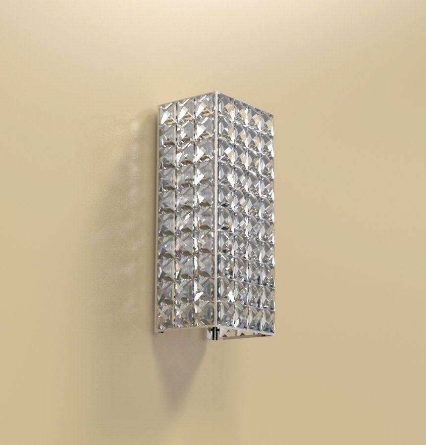 Arandela de Cristal Legitimo Quarto Sala Escada Corredor Lavabo Espelho Painel Cabeceira De Cama Living Hall Entrada AR602M