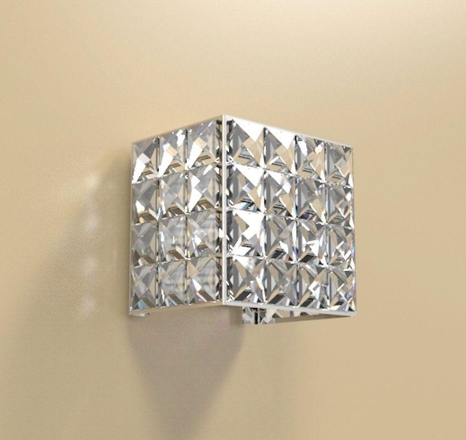 Arandela de Cristal Legitimo Quarto Sala Escada Corredor Lavabo Espelho Painel Cabeceira De Cama Living Hall Entrada AR602P