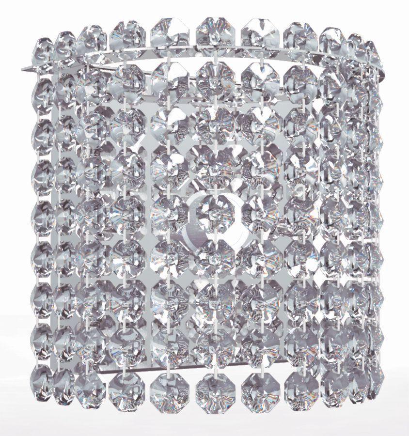 Arandela de Cristal Legitimo Quarto Escada Corredor Lavabo Espelho Painel Cabeceira De Cama Living  C/ Led