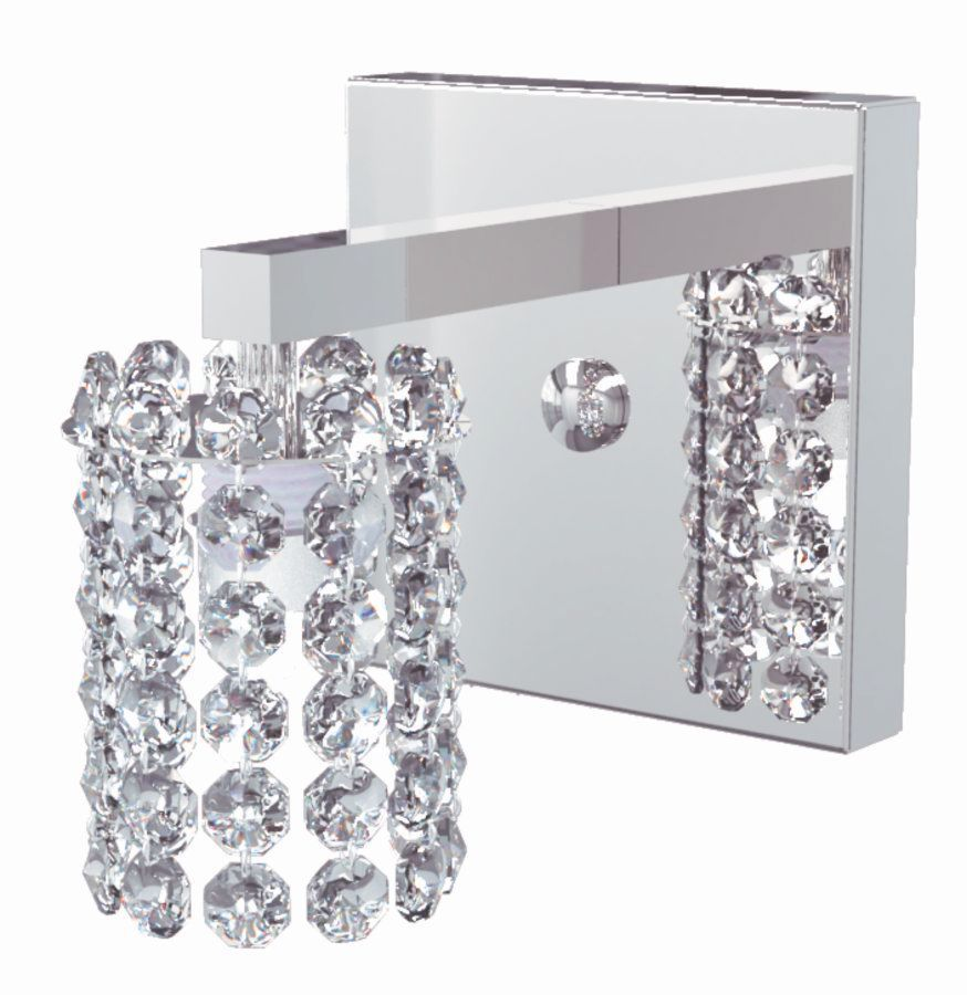 Arandela de Cristal Legitimo Quarto Escada Corredor Lavabo Espelho Painel Cabeceira De Cama Living Hall Entrada C/ Led