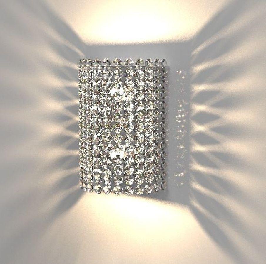 Arandela de Cristal Legitimo Quarto Sala Escada Corredor Lavabo Espelho Cabeceira De Cama Living Hall Entrada C/ Led