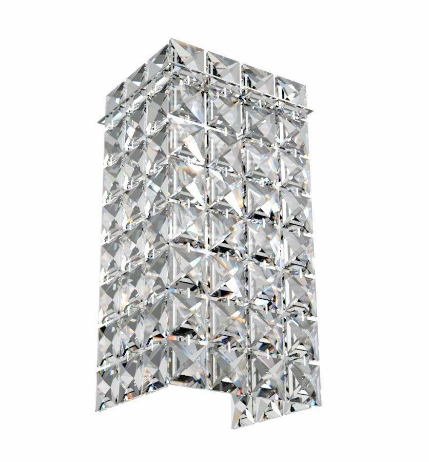 Arandela de Cristal Legitimo Quarto Sala Escada Corredor Lavabo Painel Cabeceira De Cama Living Hall Entrada C/ Led