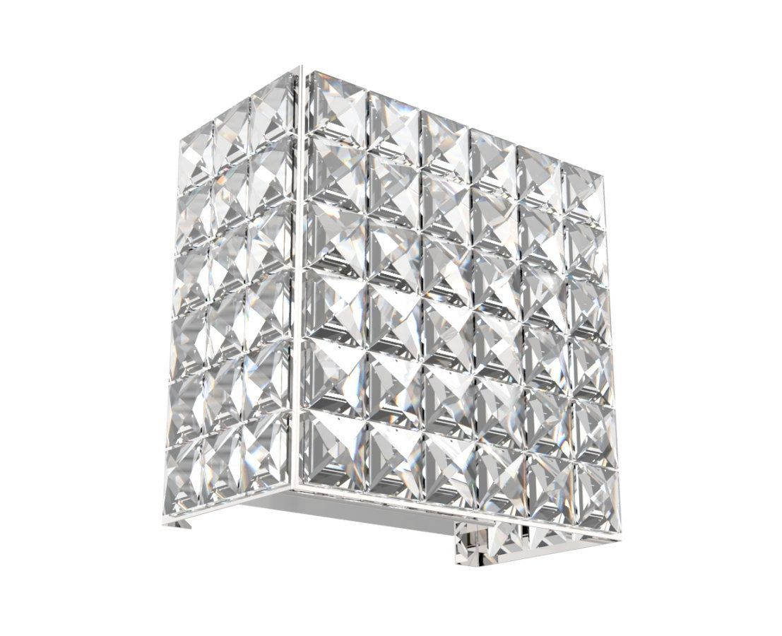Arandela de Cristal Legitimo Quarto Sala Escada Corredor Lavabo Espelho Painel Cabeceira De Cama Living Hall Entrada C/ Led