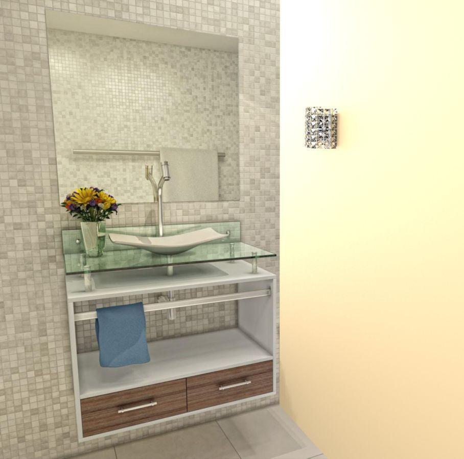 Arandela de Cristal Legitimo Quarto Sala Escada Corredor Lavabo Espelho Painel Cabeceira De Cama Living C/ Led