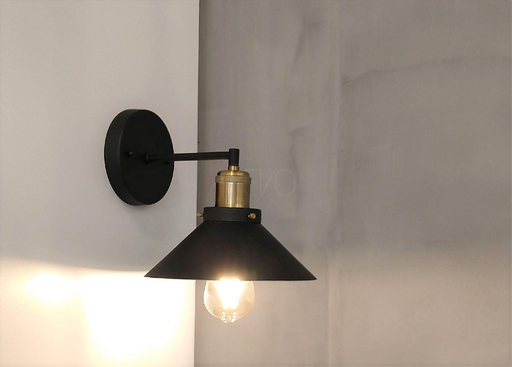 Arandela Industrial Hat Com Led Para Quarto Painel Cabeceira Cama