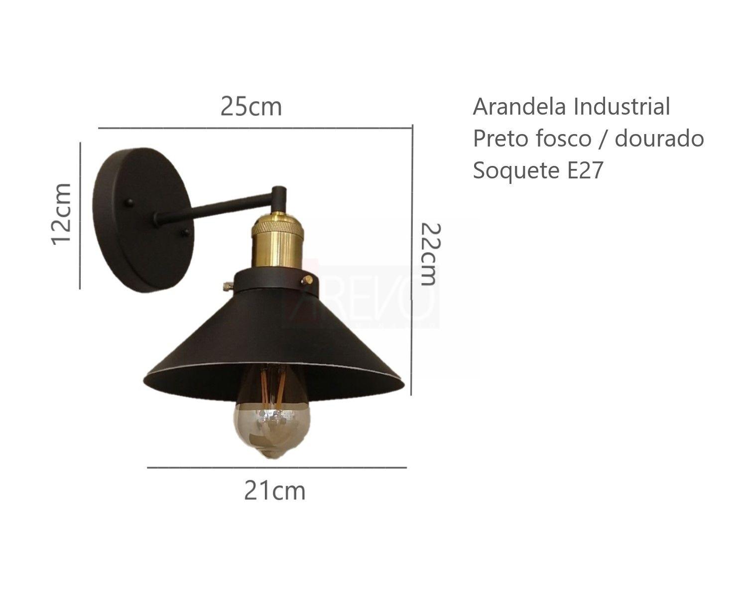 Arandela Industrial Hat Para Quarto Painel Cabeceira Cama