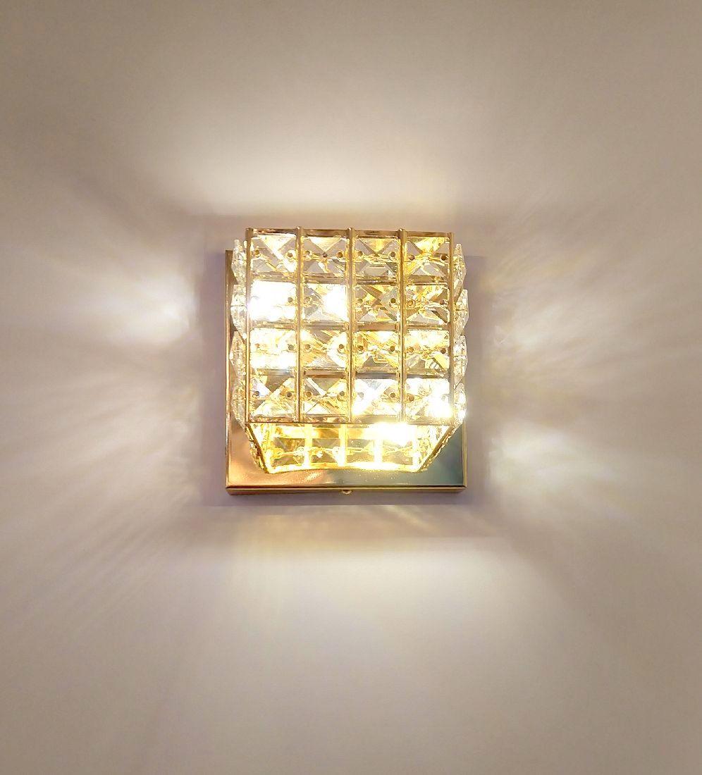 Arandela Luxor Dourado Quarto Sala Escada Corredor Lavabo Espelho Painel Cabeceira De Cama Living Hall Entrada