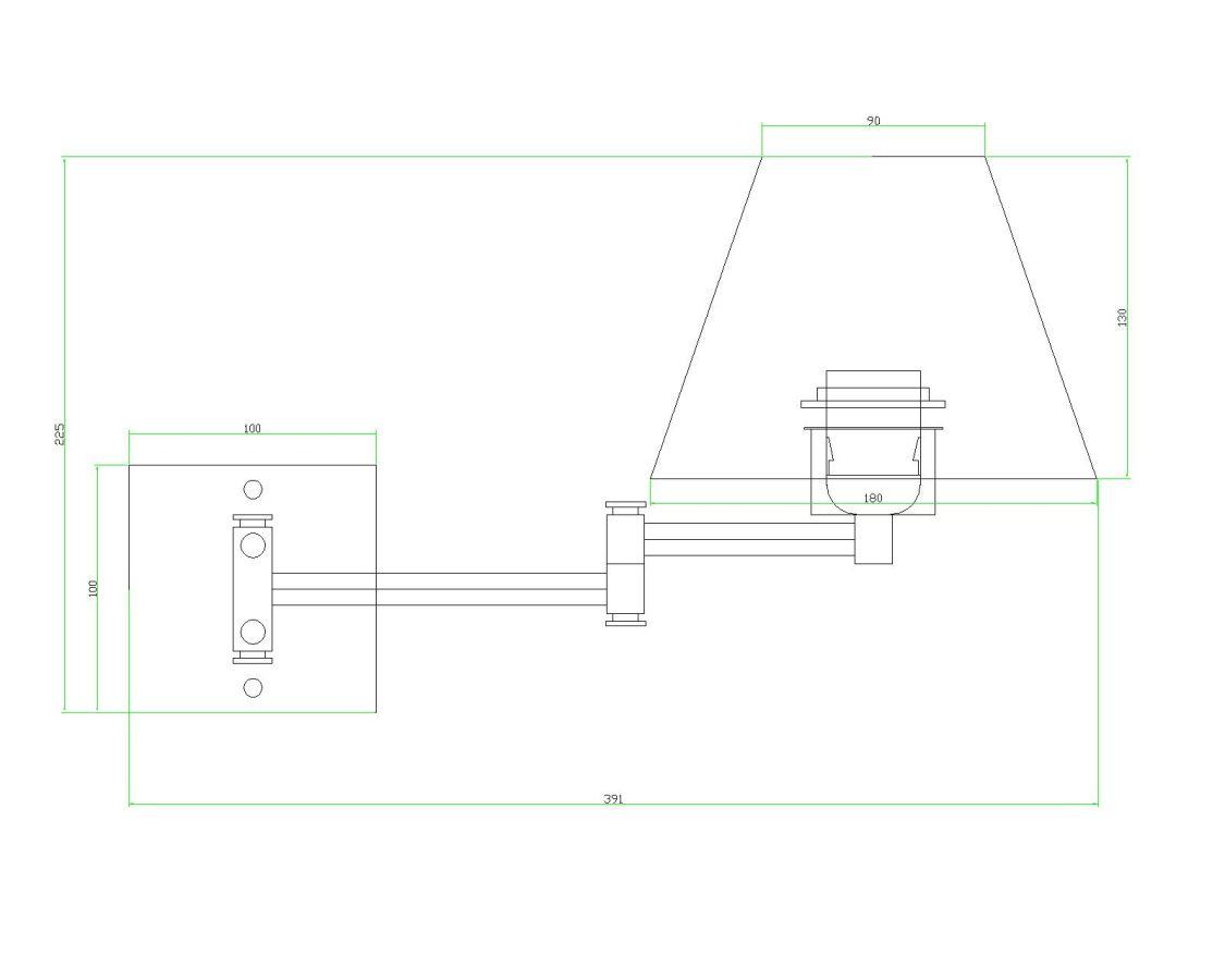 Arandela Vela Cúpula Branca C/Chave On/off Quarto Cabeceira de Cama Painel Leitura