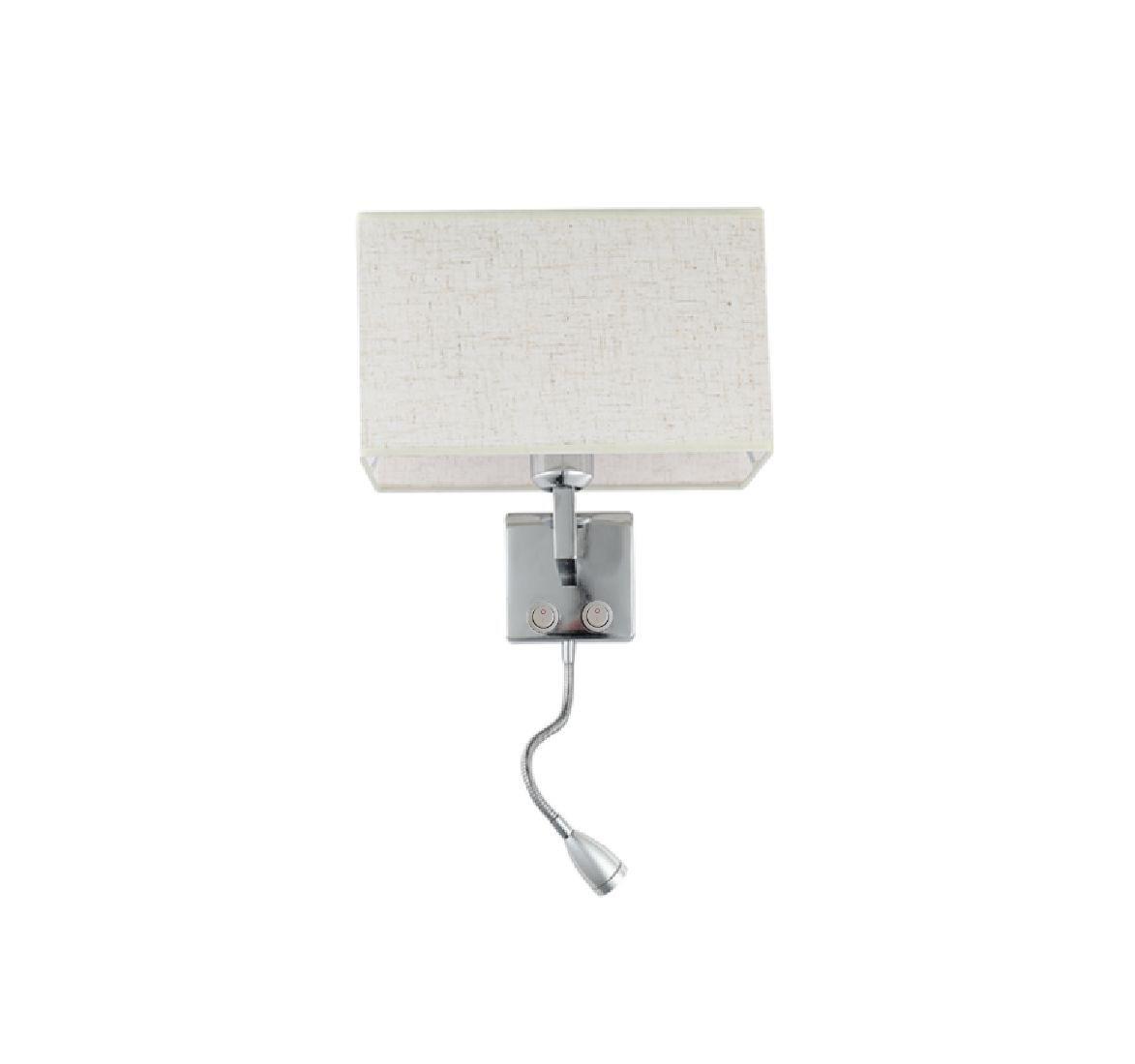 Kit 2 Arandelas Com Tecla Para Quarto Painel Cabeceira Cama Com Lâmpada Led