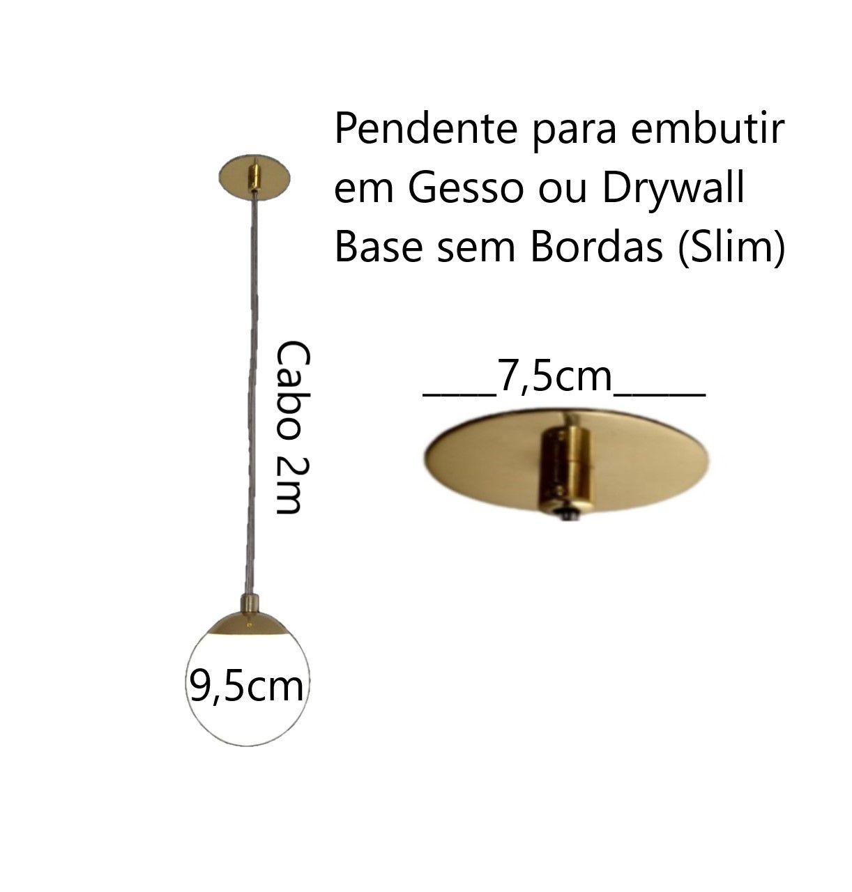 Kit 2 Pendente Jabuticaba 9,5cm Cabeceira De Cama Balcão