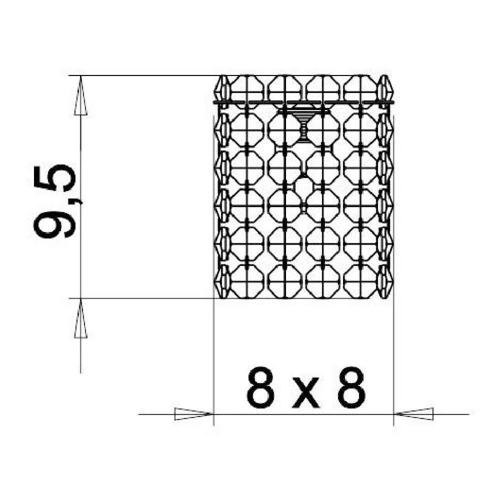 Kit Arandela de Cristal Legitimo Quarto Sala Escada Corredor Lavabo Espelho Painel Cabeceira De Cama C/ Led
