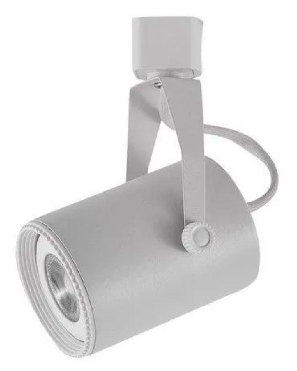 Kit Trilho Eletrificado 1,5m Branco Lille Nordecor + 4 Spot Par20