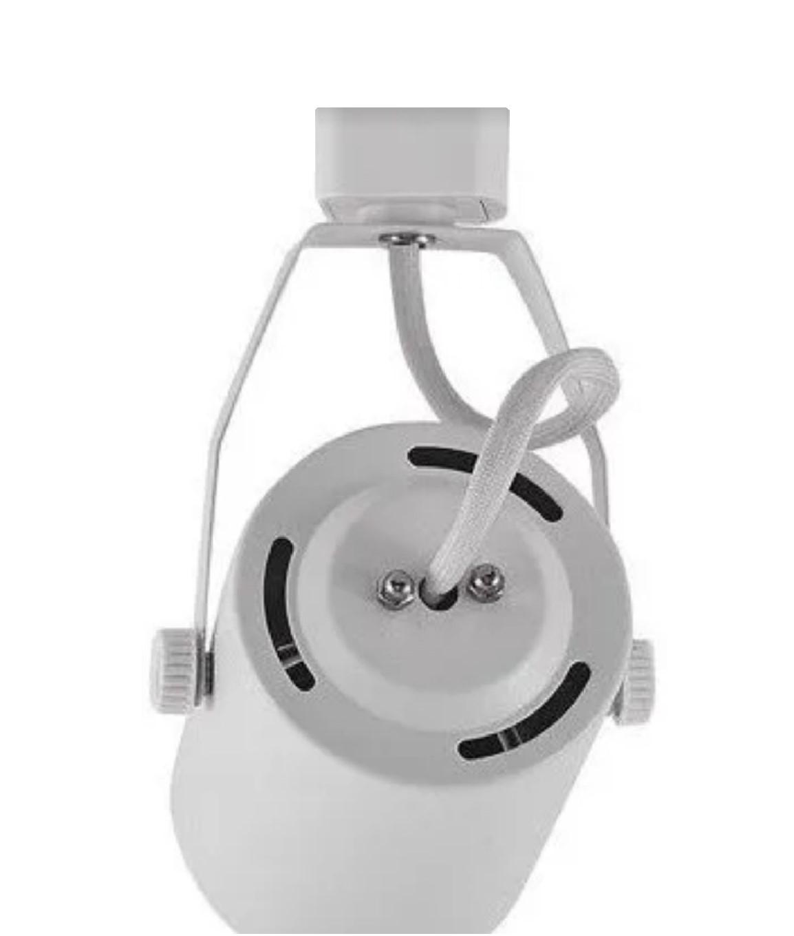 Kit Trilho Eletrificado 1,5m Branco Lille Nordecor + 4 Spot Par20 + Lâmp. Led Luz Quente