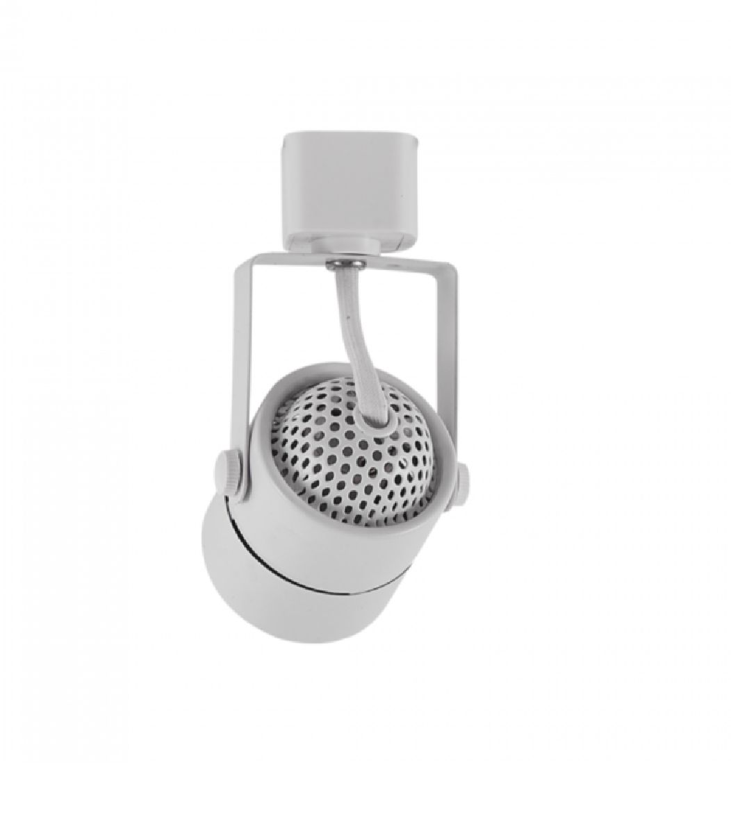 Kit Trilho Eletrificado 1,5m Branco Nordecor + 4 Spot Redondo MR16 / GU10 + Lâmp. Led Luz Quente