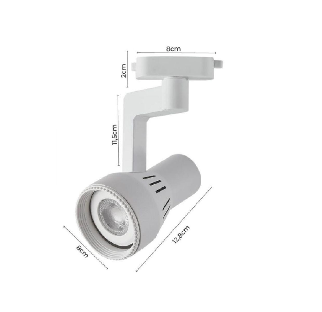 Kit Trilho Eletrificado 1,5m Branco Oko Nordecor + 4 Spot Par20
