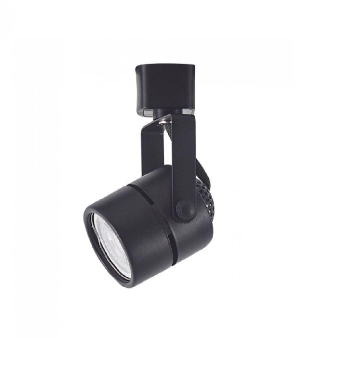Kit Trilho Eletrificado 1,5m Preto Nordecor + 4 Spot Redondo MR16 / GU10