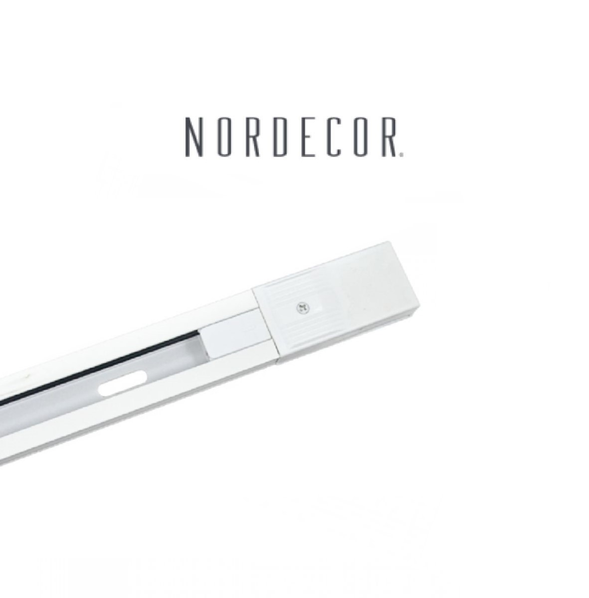 Kit Trilho Eletrificado 1m Branco Nordecor + 3 Spot Redondo MR16 / GU10 Para Sala Quarto Cozinha Quadro