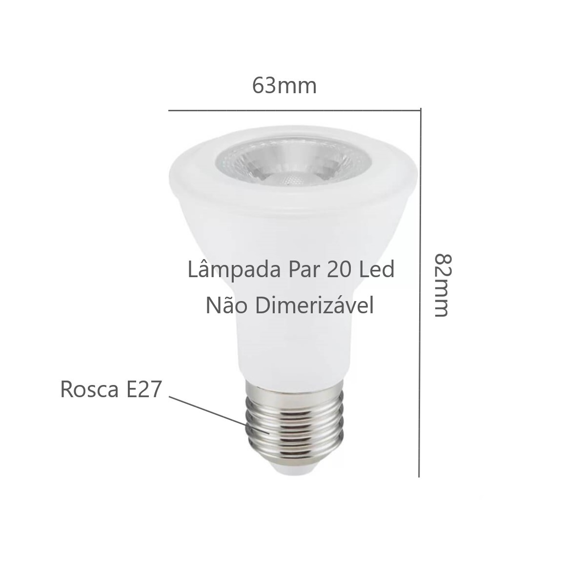 Kit Trilho Eletrificado 1m Branco Oko Nordecor + 3 Spot Par20 + Lâmp. Led Luz Quente