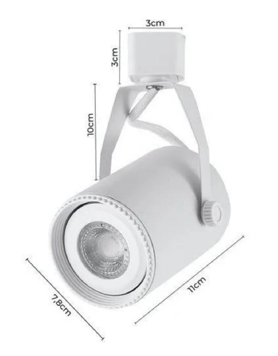 Kit Trilho Eletrificado 2m Branco Lille Nordecor + 4 Spot Par20 + Lâmp. Led Luz Quente