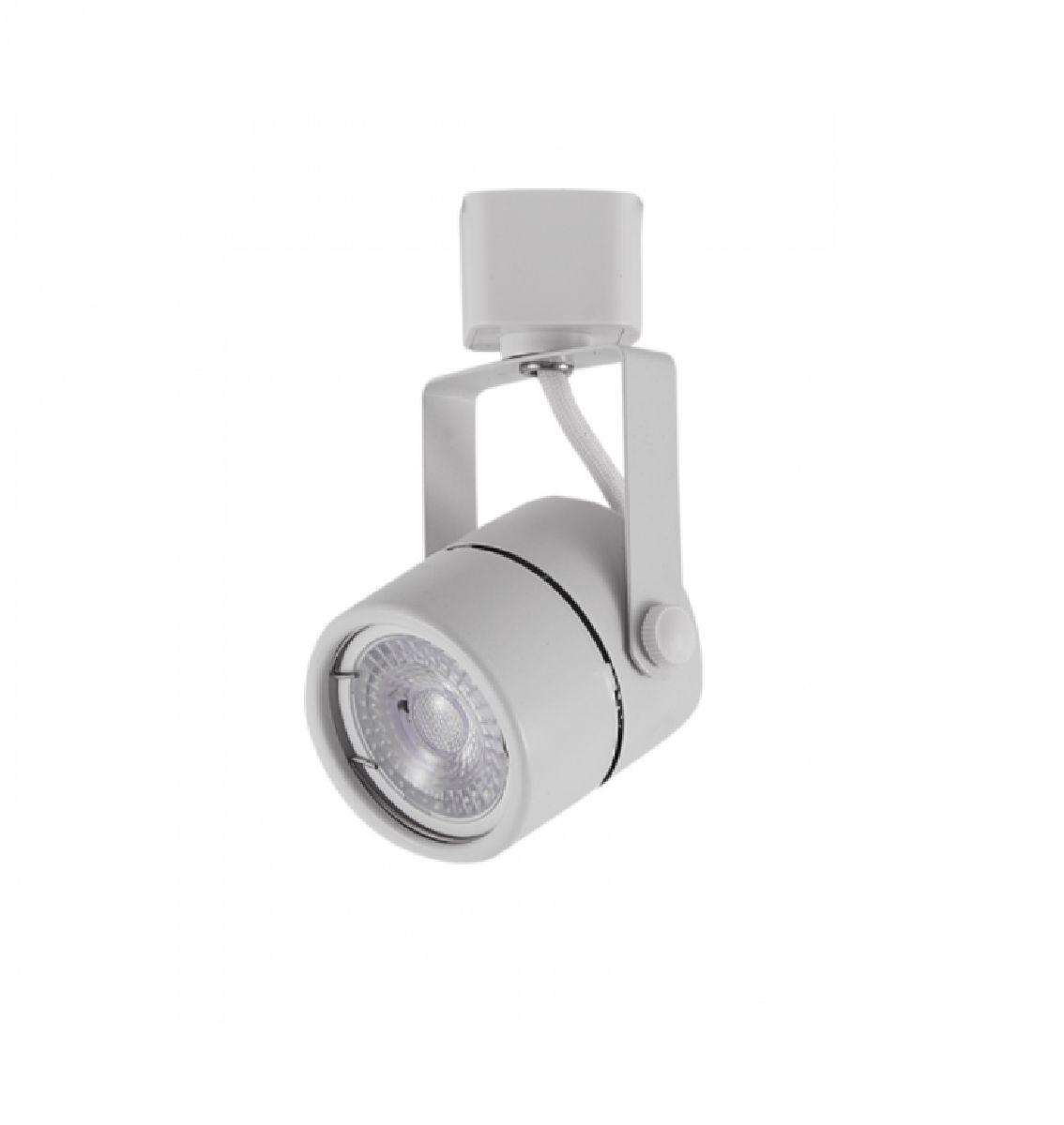 Kit Trilho Eletrificado 2m Branco Nordecor + 4 Spot Redondo MR16 / GU10 + Lâmp. Led Luz Quente