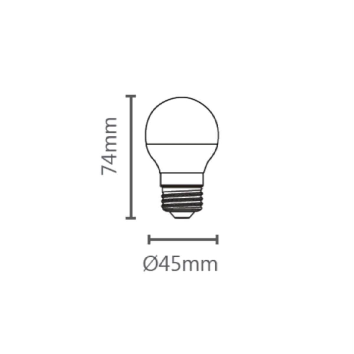 Lâmpada Led Bolinha G45 6W E27 Bivolt Luminatti