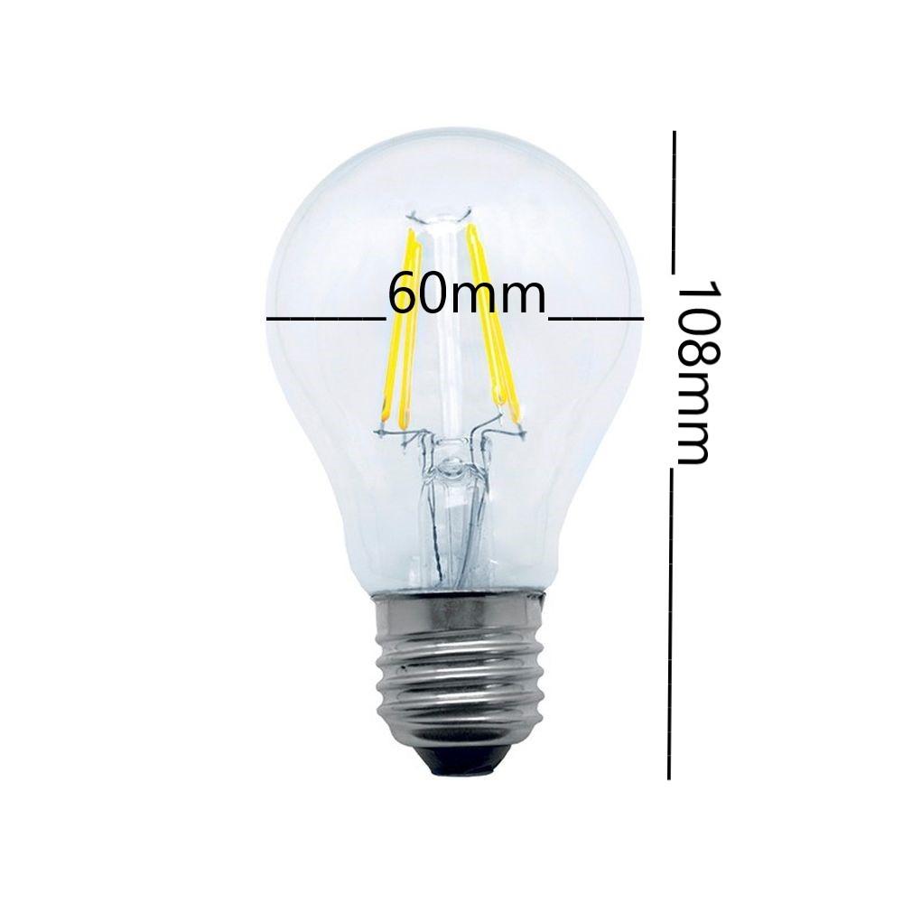 Lâmpada Led Bulbo Cristal A60 4W Luz Amarela E27 Vintage Bivolt