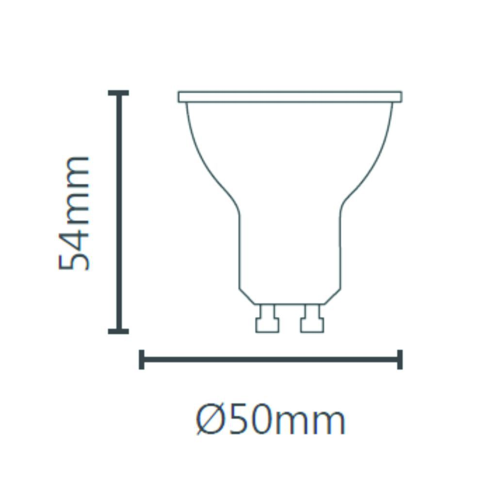 Lâmpada Led Dicroica Gu10 MR16 4,8W Bivolt Save Energy
