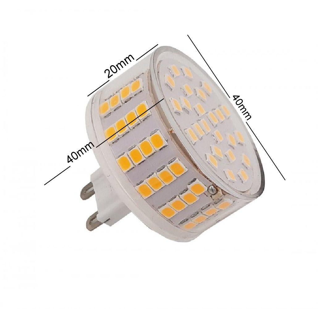 Lâmpada Led Halopin G9 8W  800lm 127V Luz Quente Arandelas Spots