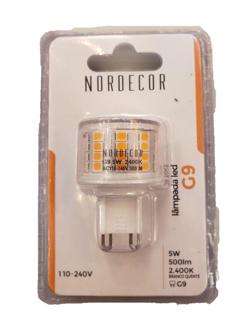 Lâmpada Led Halopin G9 5w 500lm Bivolt Luz Quente Nordecor