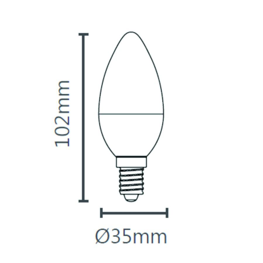 Lâmpada Vela Led Clara E14 Bivolt Para Luminária Lustre Arandela Pendente