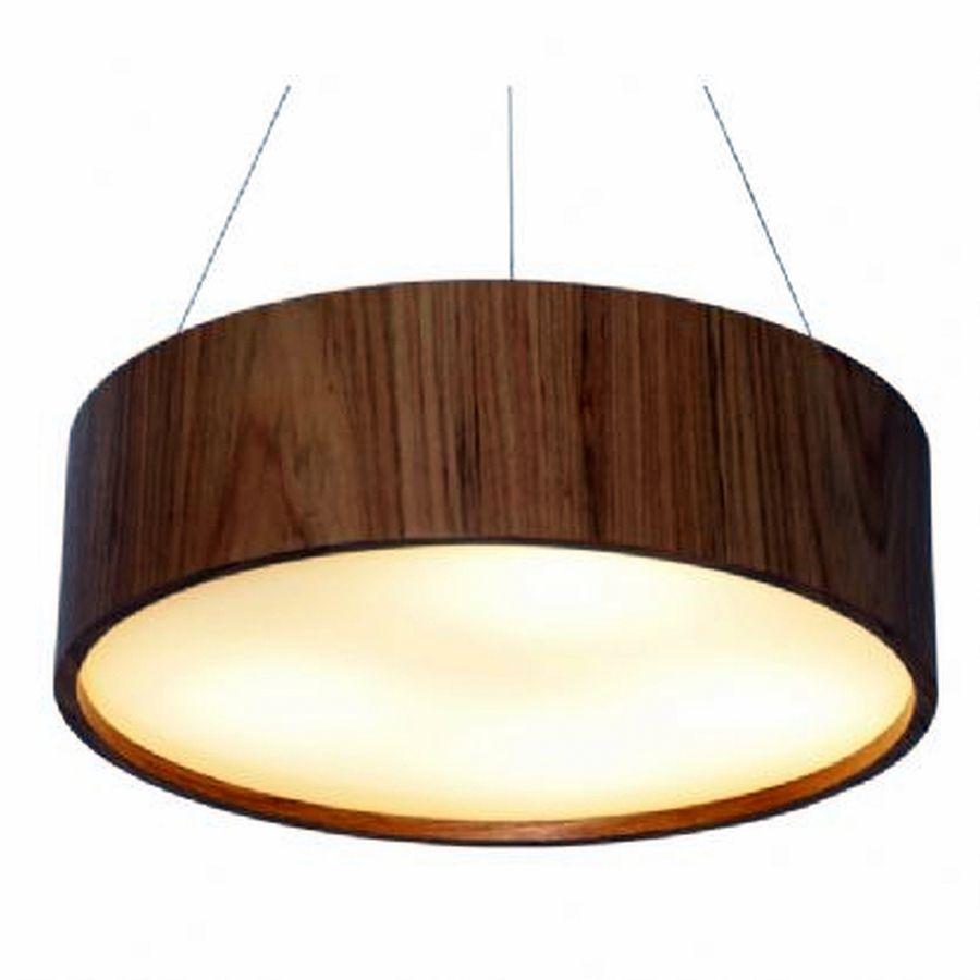 Luminária Pendente em Madeira 60cm Mesa Sala de Jantar Área Gourmet  Accord