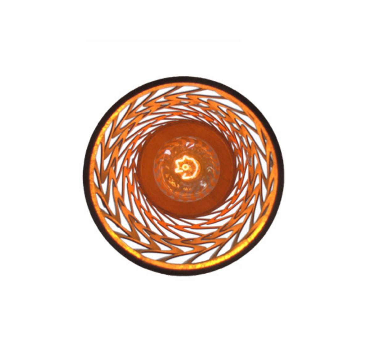 Luminária Pendente em Madeira Imbuia 44cm Para Mesa Balcão Bancada Área Gourmet Cabeceira de Cama