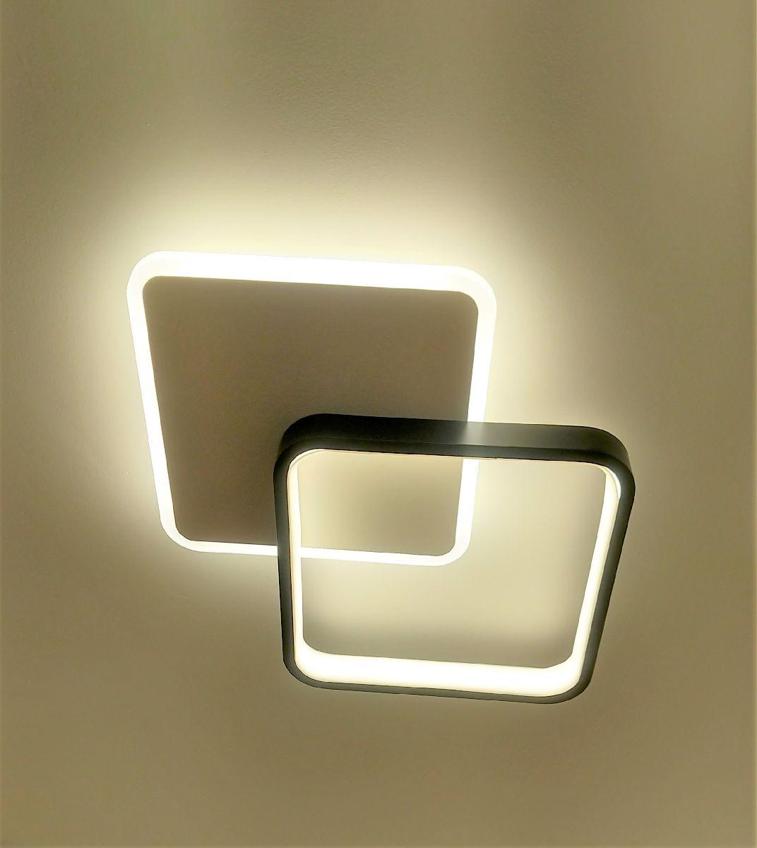 Luminária Plafon De Led 34cm Para Sala Quarto Corredor Hall Área Gourmet