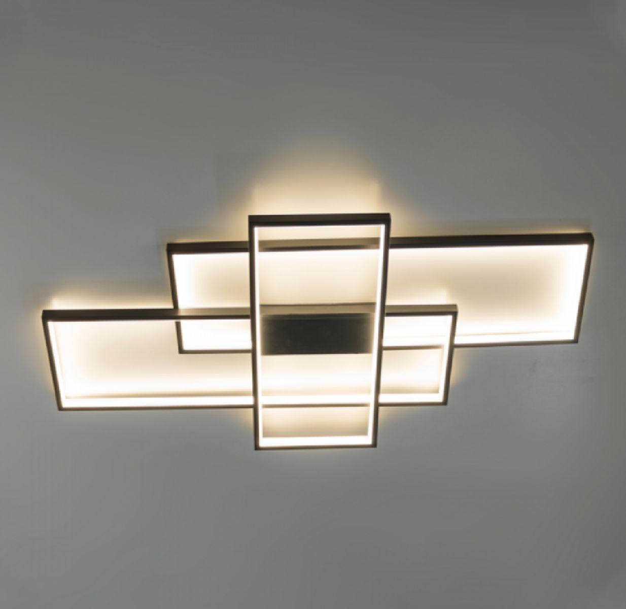 Luminária Plafon De Led 92cm Para Sala Quarto Mesa Área Gourmet